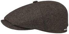 STETSON WOOL MIX BAKERBOY CAP KAPPE MÜTZE HATTERAS 61 BRAUN SCHWARZ NEU TREND