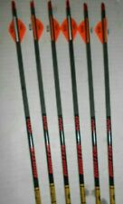 6-Gold Tip Hunter 500 Carbon Arrows w/ Blazer Vanes! Cut To Length!