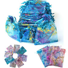 100pcs Gifts Organza Bag Jewelry Packaging Candy Wedding Party Favors Pouch