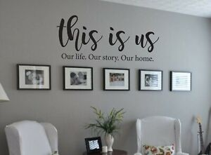 This is us inspirational kitchen quote Wall Sticker family decal living art