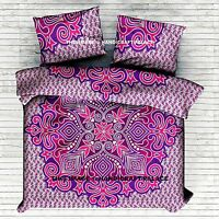 Indian Ombre Mandala Reversible Duvet Doona Cover With 2 Pillow Cover Queen Size