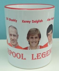 Liverpool legends mugs,the reds legends on white & red mug,LFC gift,LFC mug new
