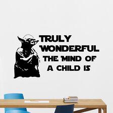 Star Wars Wall Decal Master Yoda Quote Vinyl Sticker Movie Art Decor Mural 39quo