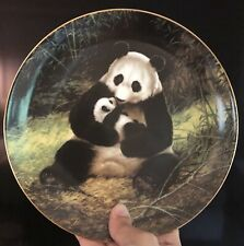"""Vintage Will Nelson -W.S. George """"THE PANDA"""" Endangered Species Plate 1988"""