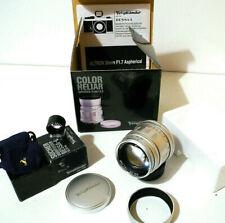 New MINT+++ RARE Voigtlander Color Heliar ASPH 75mm/2.5MC50/75Finder Bessa Leica