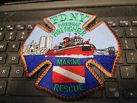 VINTAGE FDNY  PATCH--MARINE RESCUE   --SIZE 5  INCHES  FDNY SEE STORE