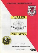 Sep 82 WALES v NORWAY