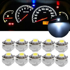 10x T5 B8.4D 5050 1SMD Car LED Dashboard Instrument Indicator Light Bulb White