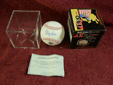 """GEORGE KELL"" Original ""SIGNED"" ""BASEBALL"" Inside ""CUBE"" Display"