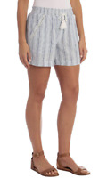 Briggs Womens Linen Blend PullOn Shorts Pockets & Drawstring Pic Sz & Co 1372191