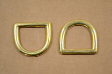 "D Ring - Solid Brass - 1"" - Pack of 10 (F22)"
