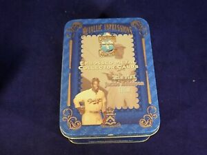 Jackie Robinson Collector Cards in Decorative Tin (Set of 5) 1996 Avon NIB