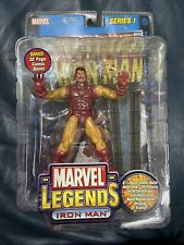 "Marvel Legends Series 1 IRON MAN 6"" Figure Gold Variant  2002"