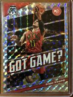 "2019-20  PANINI MOSAIC TRAE YOUNG #16 ""GOT GAME"" SILVER MOSAIC PRIZM SP - HAWKS"