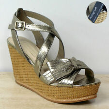 Marks and Spencer Women's 100% Leather Platforms, Wedges Sandals & Beach Shoes