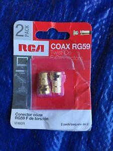 RCA VH60R COAX RG59 TWIST ON CONNECTORS TV CABLE TERMINATES