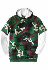 KING SIZE THERMAL LINED HOODIE BIG 3X XXXL ARMY GREEN CAMO PULLOVER HOODIE  NIP!