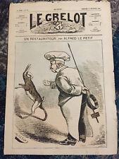 Le Grelot - Journal satirique du 14 septembre  Albert le petit Un Restaurateur