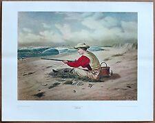 Currier and Ives Beach Snipe Shooting  Pub Original Ltd 1st Ed 1960 LithoPrint