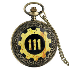 Bronze Fallout 4 Official Vault111 Electronic Game Pocket Watch Chain Pendant