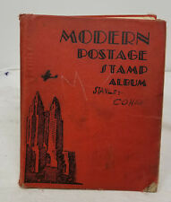 Antique Vintage Postage Stamp Book Collection World Stamps Hong Kong