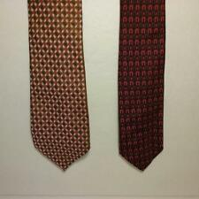 Vintage Lot of 2 - Bronzini Silk Ties -1960's - Orange, Red, Colorful Prints