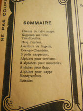 Le Journal des Brodeuses 1948 n° 635 chemin de table bleuet papillon taie