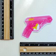 """Pink Water Gun Neff Pistol Vintage retro 3x2"""" skateboard Decal sticker #2882"""