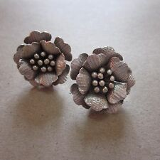 Thai Hill Tribe Earrings Fine Silver STUD Flower Flora Pedals CS916041