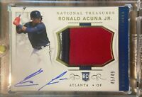 **HOT PACK READ!** Ronald Acuna 2018 NATIONAL TREASURES RPA ROOKIE PATCH AUTO RC