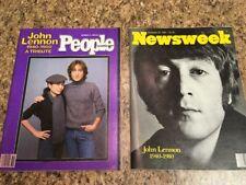 People Magazine Dec 22 1980 Tribute to John Lennon & News Week Dec 22 1980 Combo