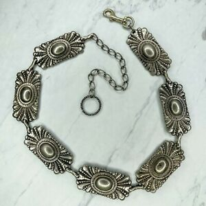 Vintage Western Concho Belly Body Chain Link Belt Size Small S Medium M