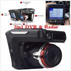 New 2.4'' HD Vehicle Car Video Camera Recorder Radar Speed Detector DVR Dash Cam