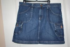 Old Navy -  Blue Denim Skirt - Above the Knee length,  - Size 14
