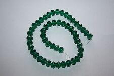 50 X Verde Esmeralda Corte Facetado Cuentas De Vidrio Cristal Rondelle 10mm X 8mm