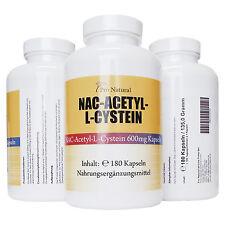NAC - N-Acethyl L-Cystein 600 mg - 180 Kapseln Premium Qualität L-Cysteine