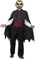 Vampire Costume Blood Thirsty 3 D Mask Child Halloween Costume Size 8-10