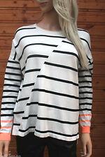 Gestreifte Damen-Pullover & -Strickware mit Rollkragen aus Viskose