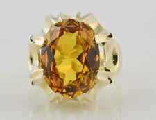 Ring Citrin 585 14K Gelbgold