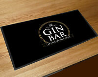 Gin Bar Gold label party bar runner mat Cocktail bars & Pubs
