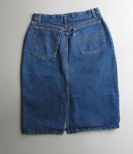 Vtg Levis High Waist Denim Blue Jean Skirt 14 29""