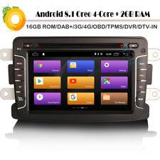 "7"" DVB-T2 Android 8.1 Oreo GPS DAB Autoradio 4G SatNav für Dacia Dokker Express"