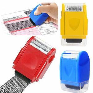 Identitätsdiebstahl Roller Stamp Privacy Data Guard Ihre Rollenstempel ID Schutz