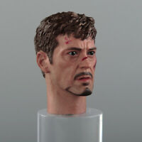"""1/6 Male Head Sculpt Carving Model Toy Iron Man Tony Stark for 12"""" Action Figure"""
