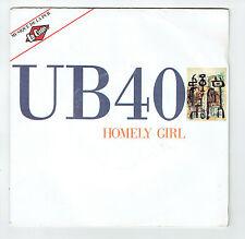 "UB 40 Vinyl 45 tours 7"" HOMELY GIRL - GATOR Pub LEE COOPER VIRGIN 90665 F Rèduit"