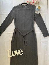 M&S Sizes 10 12 14 16 18 20 Grey cosy soft belted jumper dress smart career work
