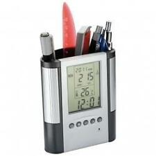 New Pen Pencil Stand with Digital Clock, Date, Temperature, Alarm