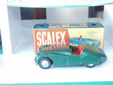 Scalex XK120 Jaguar Tinplate Car (1950's) 1:32 scale (keyless clockwork)