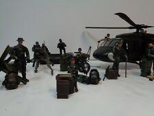 Military Figure Lot - 70 PIECE ACTION FIGURE LOT - M&C Toy Centre w/ HELICOPTER