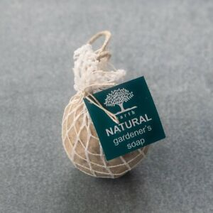 Earth Products gardeners soap on a rope, Australian made